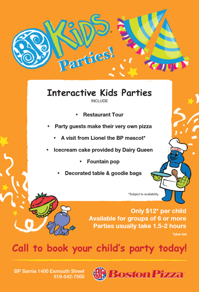 Sarnia Birthday Party Packages | Sarnia Mom Source
